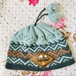 Rocky Mountains Lake Louise wool hat touque beanie
